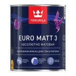Tikkurila Euro Matt 3 / Тиккурила Евро Матт 3 краска глубоко матовая латексная